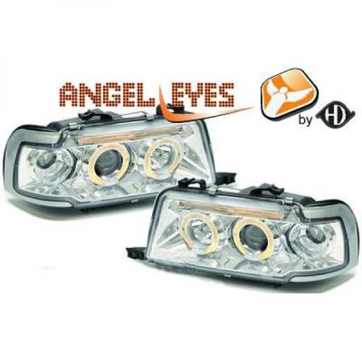 Set de deux phares principaux H1/H1 chrome AUDI 80 de 91 à 94 - OEM : 8Z0941004K