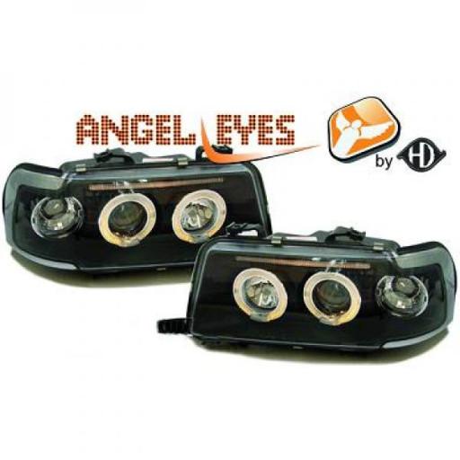 Set de deux phares principaux H1/H1 noir AUDI 80 de 91 à 94
