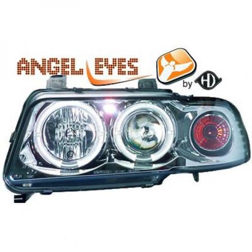 Set de deux phares principaux H1/H1 chrome AUDI A4 de 94 à 99