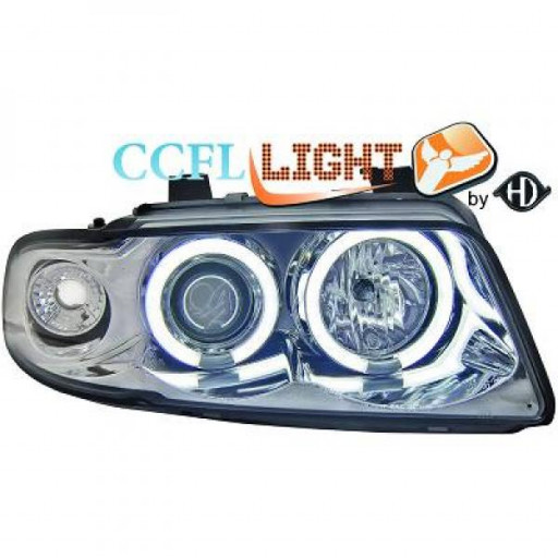 Set de deux phares principaux H1/H1 chrome AUDI A4 de 95 à 98