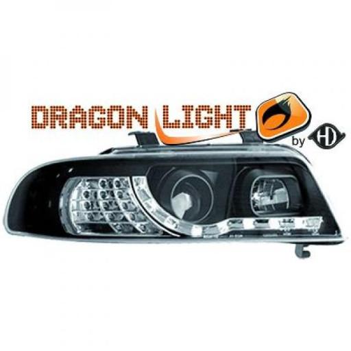 Set de deux phares principaux H1/H1 noir AUDI A4 de 99 à 0