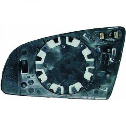 Miroir (asphérique) de rétroviseur coté gauche AUDI A4 de 03 à 08 - OEM : 10261802