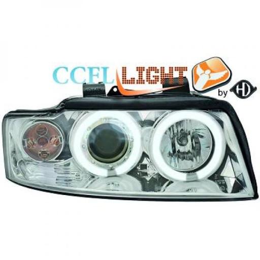 Set de deux phares principaux H1/H1 chrome AUDI A4 de 01 à 04