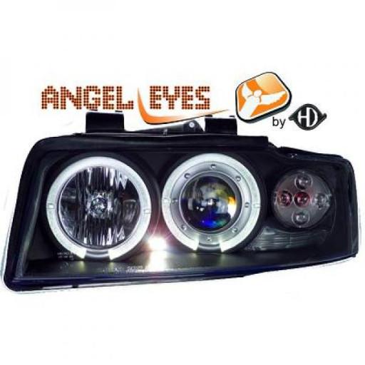 Set de deux phares principaux H1/H1 noir AUDI A4 de 00 à 04
