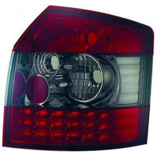 Kit de feux arrières version LED rouge/noir AUDI A4 de 00 à 04 - OEM : LLD392