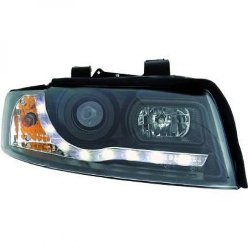 Set de deux phares principaux H1/H1 noir AUDI A4 de 00 à 4