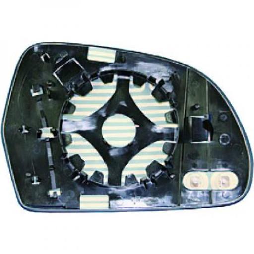 Miroir de rétroviseur coté gauche (dégivrant) AUDI A4 de 08 à 10 - OEM : 4F0857536AF