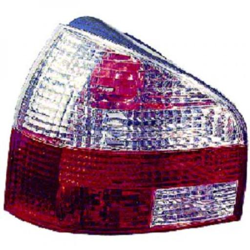 Kit de feux arrières brillant blanc/rouge AUDI A3 de 96 à 00