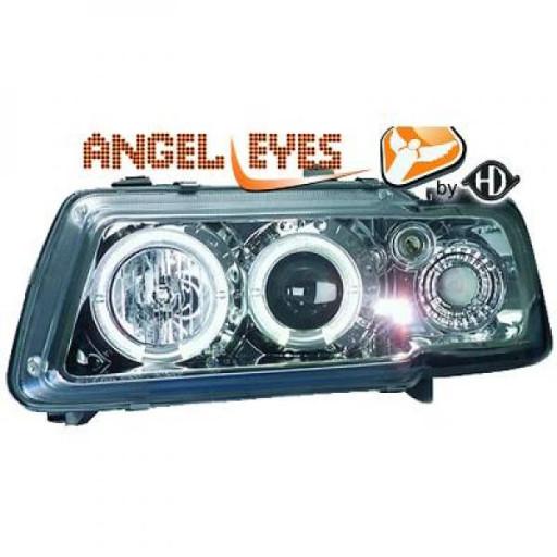 Set de deux phares principaux H1/H1 chrome AUDI A3 de 96 à 00 - OEM : 8L0941030