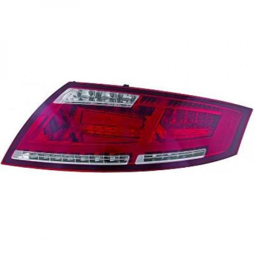 Kit de feux arrières rouge limpide AUDI TT de 06 à 14