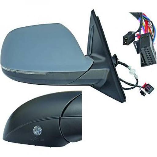 Rétroviseur extérieur gauche rabattable AUDI Q5 de 08 à 12 - OEM : 8R1857409L01C