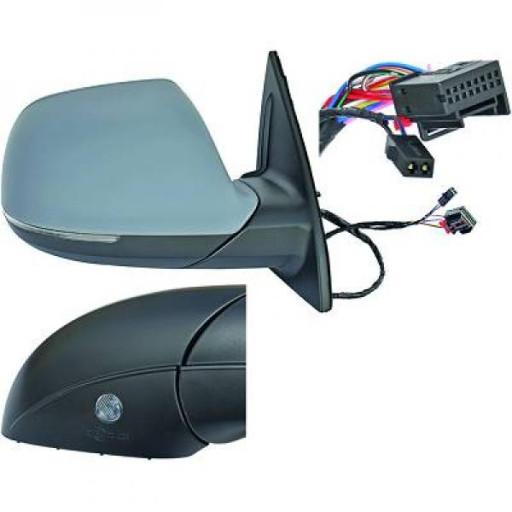 Rétroviseur extérieur droit convexe AUDI Q7 de 09 à >> - OEM : 4L1857410CL01-C