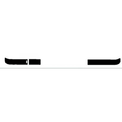 Moulure de pare chocs avant coté gauche surface lisse BMW Série 3 (E36) de 91 à 99 - OEM : 51111960711