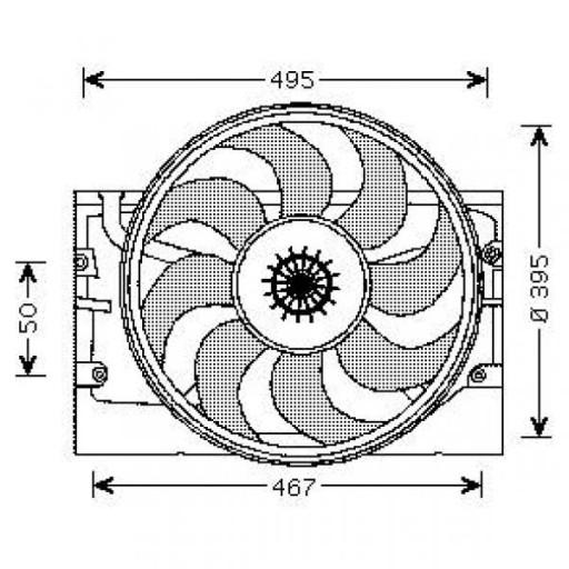 Ventilateur refroidissement du moteur BMW Série 3 (E36) de 93 à 00 - OEM : 8391317