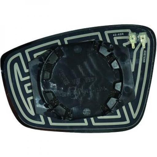 Miroir de rétroviseur coté gauche (dégivrant) VOLKSWAGEN UP de 2011 à >> - OEM : 6RU857521B