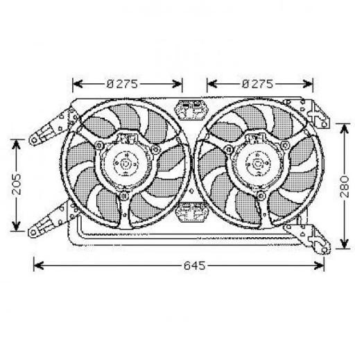 Ventilateur refroidissement du moteur ALFA ROMEO 147 (937) de 02 à 06 - OEM : 60692693
