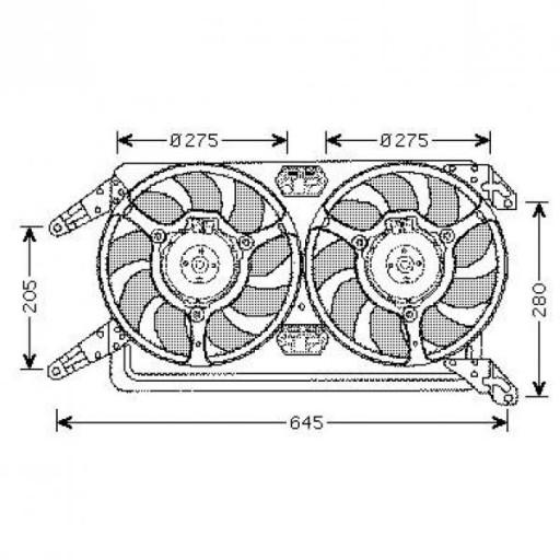 Ventilateur refroidissement du moteur boite manuelle ALFA ROMEO 156 (932) de 02 à 06 - OEM : 60694104