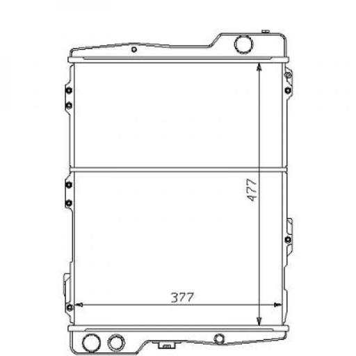 Radiateur, refroidissement du moteur 558 x 377 pour boite manuelle de 96 à >> - OEM : 6081128