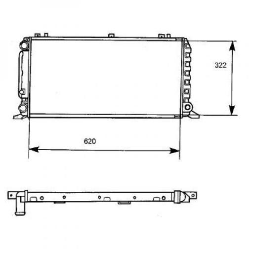 Radiateur, refroidissement du moteur 620 x 320 pour boite manuelle de 91 à >> - OEM : 8A0121251A
