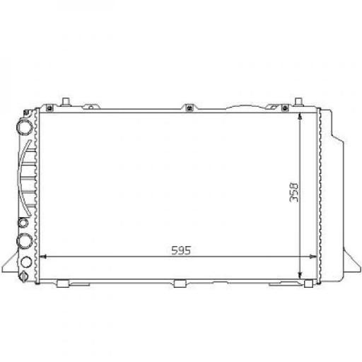 Radiateur, refroidissement du moteur boite manuelle de 91 à 96 - OEM : 8A0121251