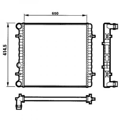 Radiateur, refroidissement du moteur 650 x 415 x 23 [mm] de 96 à 03 - OEM : 1J0121253Q