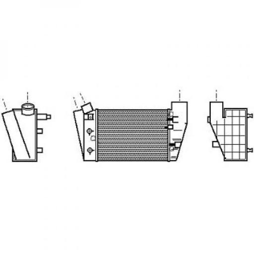Intercooler, échangeur Qualité: Denso Aluminium de 00 à >> - OEM : 8E0145806D