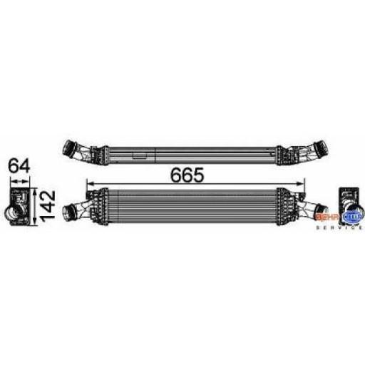 Intercooler, échangeur de 07 à >> - OEM : 8K0145805G