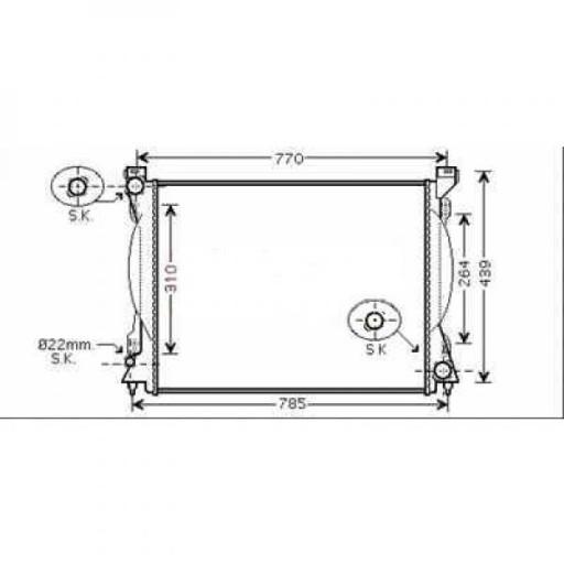 Radiateur, refroidissement du moteur 675 x 445 x 32 pour boite manuel de 04 à >> - OEM : 4F0121251L