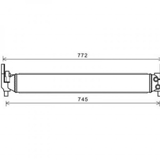 Radiateur, refroidissement du moteur 645 x 88 x 56 de 2010 à >> - OEM : 6R0145805H