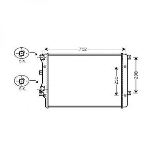 Radiateur, refroidissement du moteur 650 x 405 x 29 pour boite manuelle de 03 à 10 - OEM : 5K0121253D