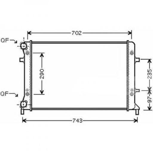 Radiateur, refroidissement du moteur 650 x 445 de 03 à 10