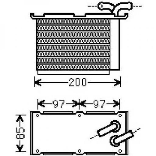 Intercooler, échangeur 179 x 115 x 61 de 04 à >> - OEM : 03C145749B