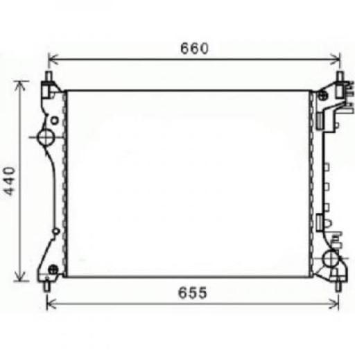 Radiateur, refroidissement du moteur 540 x 415 x 16 boite manuel de 08 à >> - OEM : 50512102