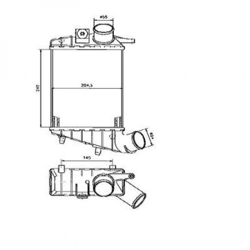Intercooler, échangeur de 97 à >> - OEM : 60686738