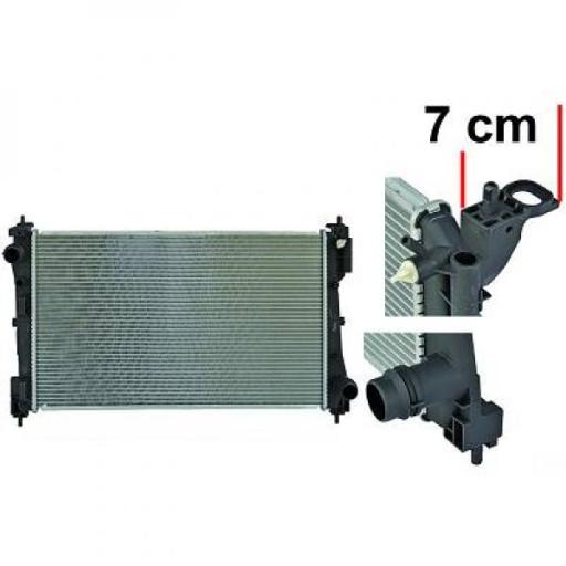 Radiateur, refroidissement du moteur 620 x 395 x 27 pour boite manuelle de 05 à >> - OEM : 55704135