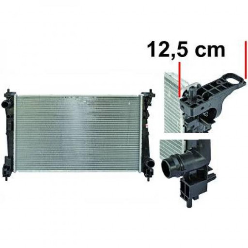 Radiateur, refroidissement du moteur 620 x 390 x 16 de 09 à >> - OEM : 51863820