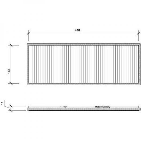 filtre air d 39 habitacle charbon actif oem 9121625. Black Bedroom Furniture Sets. Home Design Ideas
