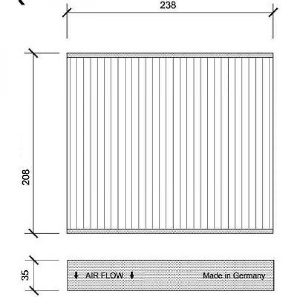 filtre air d 39 habitacle charbon actif oem 1713180. Black Bedroom Furniture Sets. Home Design Ideas