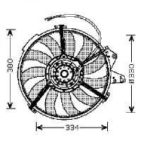 Ventilateur refroidissement du moteur AUDI A2 de 00 à 05 - OEM : 8Z0959455C