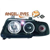 Set de deux phares principaux H1/H1 noir AUDI A4 de 94 à 9