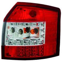 Kit de feux arrières version LED blanc/rouge AUDI A4 de 00 à 04