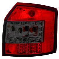 Kit de feux arrières version LED rouge/noir AUDI A4 de 00 à 04