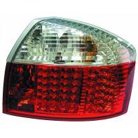 Kit de feux arrières brillant blanc/rouge AUDI A4 de 00 à 04 - OEM : 8D9945111