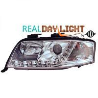 Set de deux phares principaux H1/H1 R87 AUDI A6 de 01 à 04