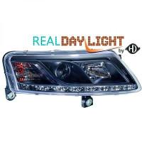Set de deux phares principaux D2S/H1 R87 AUDI A6 de 04 à 08