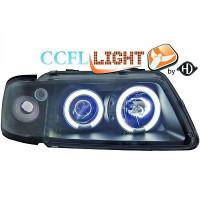 Set de deux phares principaux H1/H1 noir AUDI A3 de 96 à 00