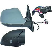 Rétroviseur extérieur gauche convexe AUDI Q7 de 09 à >> - OEM : 4L1857410CL01-C
