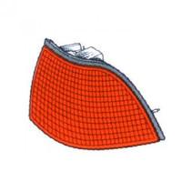 Feu clignotant gauche orange BMW Série 3 (E36) de 91 à 99 - OEM : 714000000000