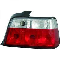Kit de feux arrières blanc/rouge brillant BMW Série 3 (E36) de 90 à 97