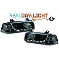Set de deux phares principaux H1/H1 R87 BMW Série 3 (E36) de 90 à 99